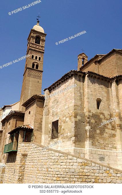 Iglesia de Santa María Magdalena tower (XIIth century, mudejar tower, XVth century). Tarazona. Zaragoza. Aragón. Spain