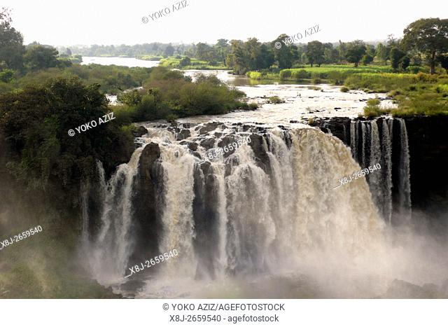 ethiopia, waterfalls of the Blue Nile