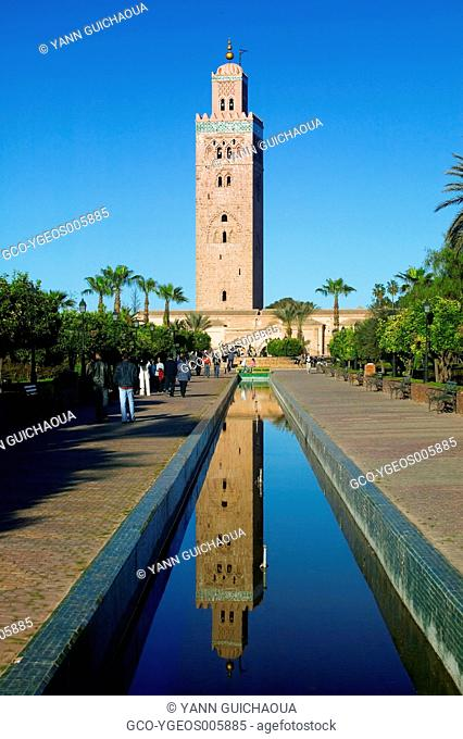 THE KOUTOUBIA IN MARRAKECH, MOROCCO