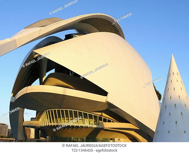 Valencia Spain  Palau de les Arts Reina Sofia in the City of Arts and Sciences in Valencia