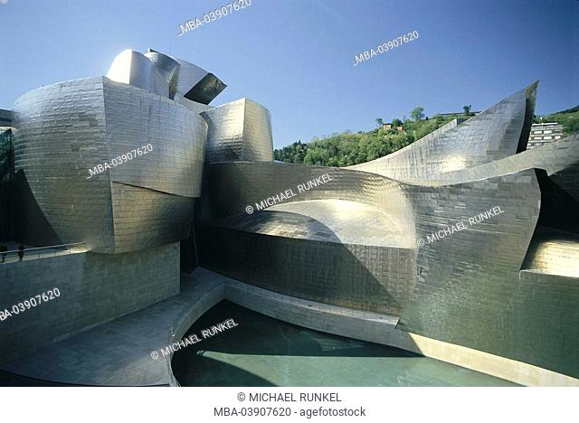 Spain, Basque country, Bilbao, Guggenheimmuseum, detail, no property release, Iberian peninsula, province Viscaya, sight, landmark, Guggenheim museum