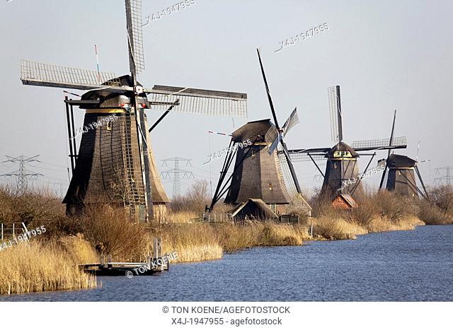 19 mills at the 'kinderdijk' near Rotterdam