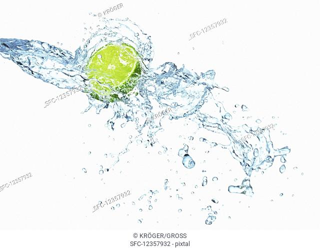 Lime with waterplash