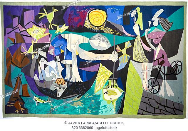 """""""Pêche de nuit á Antibes d'aptes l'oeuvre éponyme de Pablo Picasso (août 1939)"""", 1987-1988, Jacqueline de La Baume-Dürrbach, Picasso Museum, Paris, France"""
