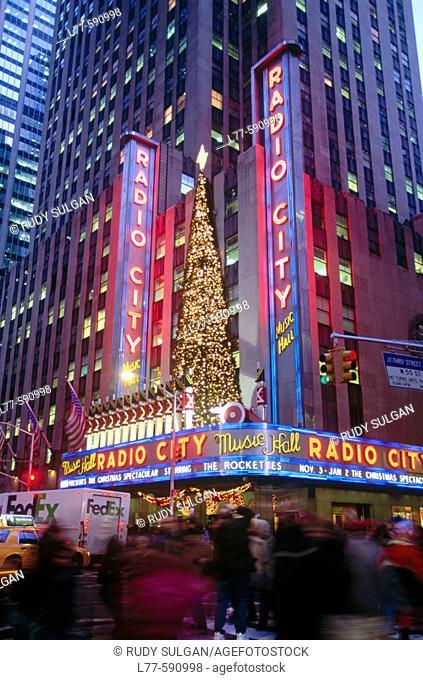 Radio City Music Hall. New York City. USA