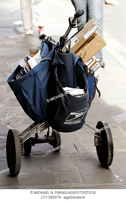 Letter carrier cart, U.S. Mail