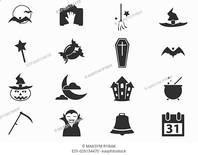 Halloween simply icons for web and user interfaces