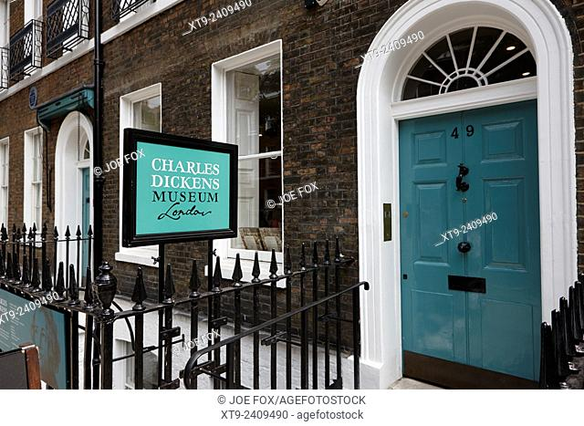 The Charles Dickens museum London England UK