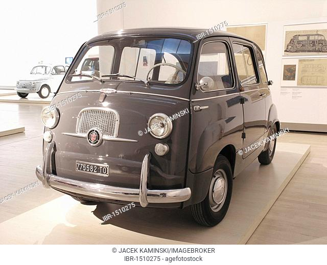 Fiat 600 Multipla, Mitomacchina exhibition, Museum of Modern Art, MART, Rovereto, Italy, Europe