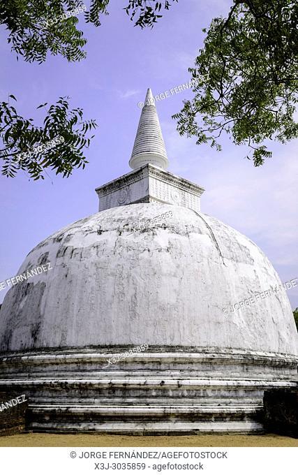 Ruins of the ancient city of Polonnaruwa. Sri Lanka