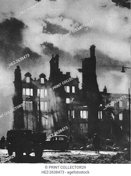 'Dawn Breaks to find the city transfigured after a night of hell', 1941 (1942). Artist: Unknown