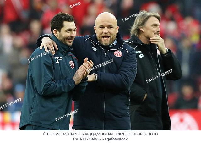 firo: 23.02.2019 football, football: 1. Bundesliga, season 2018/2019 FSV FSV FSV Mainz 05 - FC Schalke 04 3: 0 FSV Coach, coach, Sandro Black, gesture, gesture