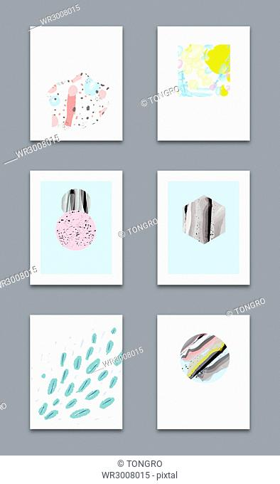 Brochure design with various creative patterns