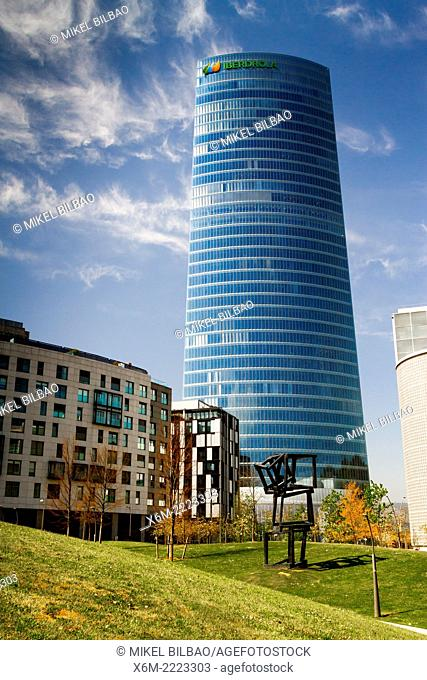 Iberdrola Tower. Bilbao, Biscay, Basque Country, Spain, Europe