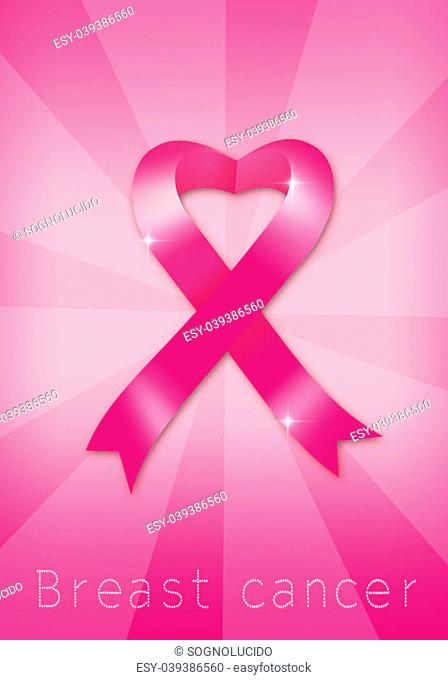 Breast cancer prevention with pink ribbon