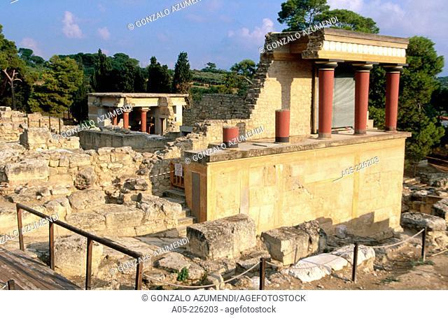 Knossos Palace ruins. Heraklion. Crete. Greece