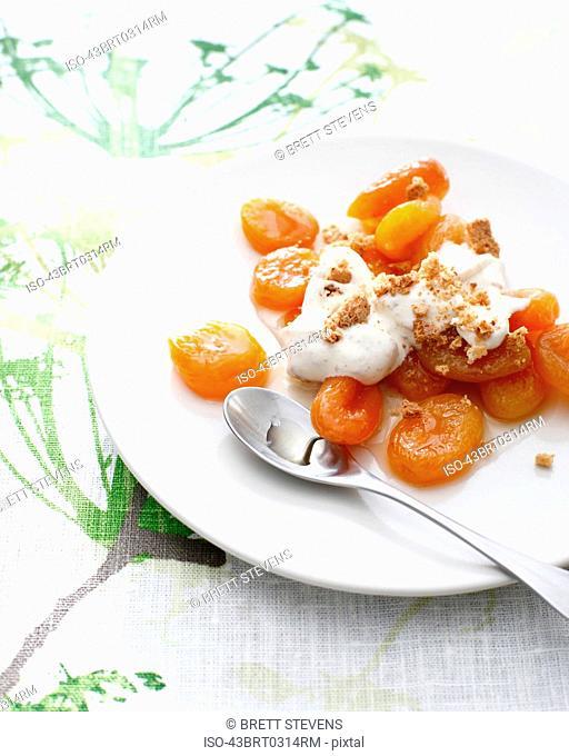 Plate of apricot amaretto