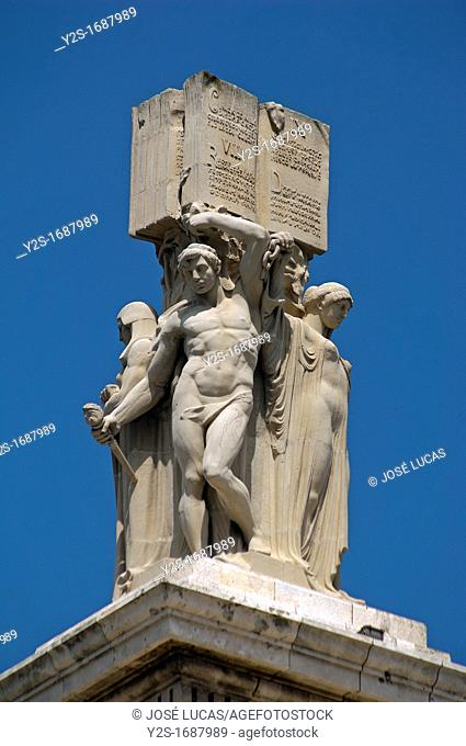 Monument to the Constitution of year 1812 - detail, Cadiz, Spain