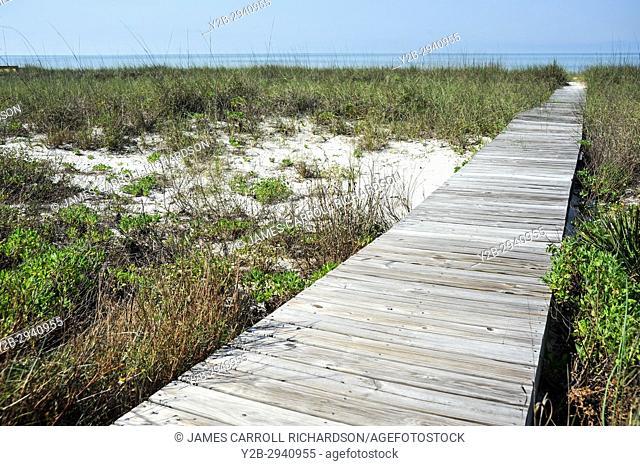 Alligator Point, Franklin County, Florida boardwalk to beach