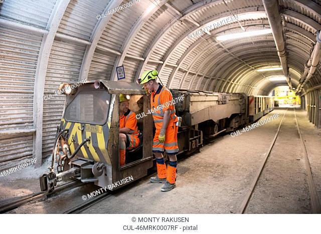 Operators working in coal mine