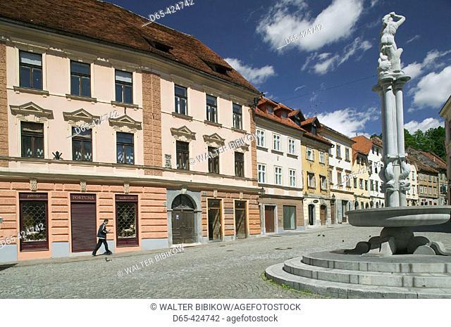 Old Town Buildings. Gornji Trg Square. Ljubljana. Slovenia