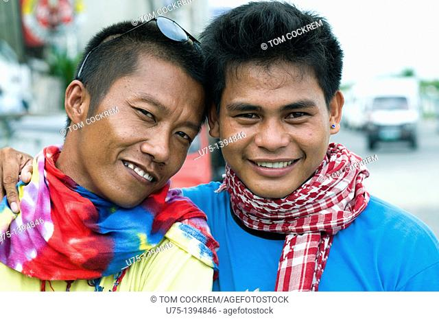 Young men in Iloilo, Panay, Philippines