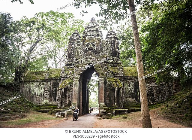 The north gate of Angkor Thom (Siem Reap Province, Cambodia)