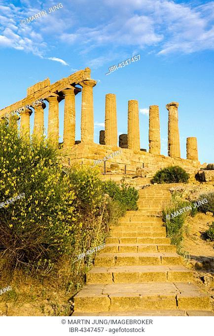 Temple of Juno or Juno Lacinia temple, Tempio Giunone, antiquity, Valley of the Temples, Valle dei Templi, Agrigento, Sicily, Italy