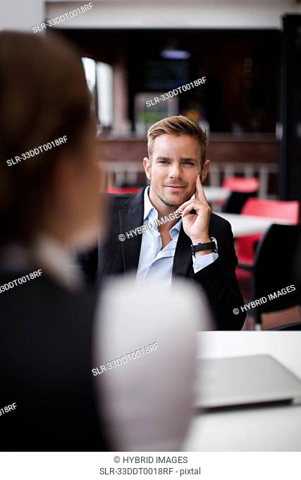 Business people at lunch together