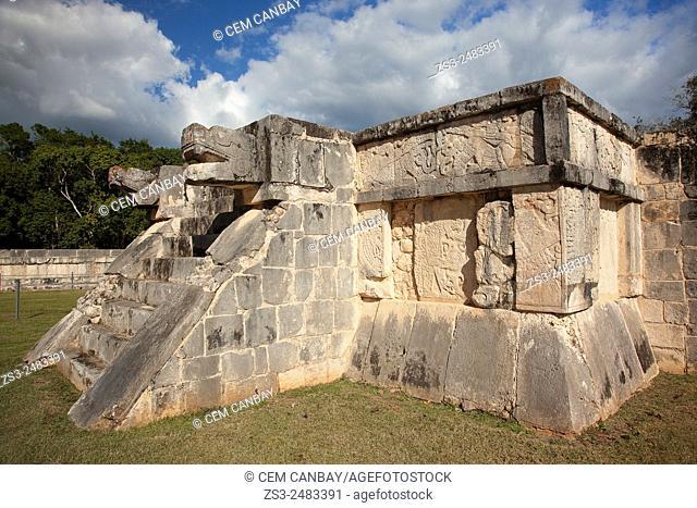 Temple in Maya Archeological Site Chichen Itza, Yucatan Province, Mexico, Central America