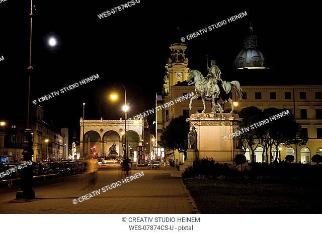 Germany, Bavaria, Munich at night