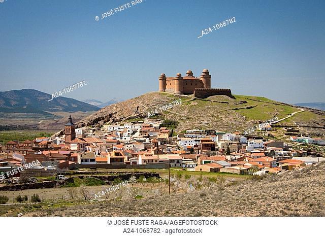 La Calahorra town and castle, Granada province, Andalusia, Spain