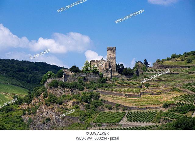 Germany, Kaub, Gutenfels Castle