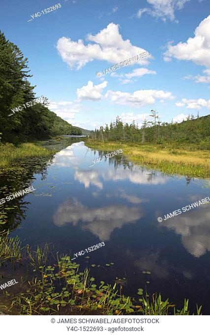Oxbow Lake outlet near Speculator in the Adirondack Mountains of New York State