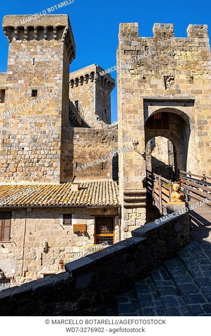 Rocca Monaldeschi della Cervara, castle in Bolsena, near Bolsena lake, Lazio, Italy