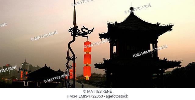 China, Shaanxi province, Xi' An, city wall near South Gate