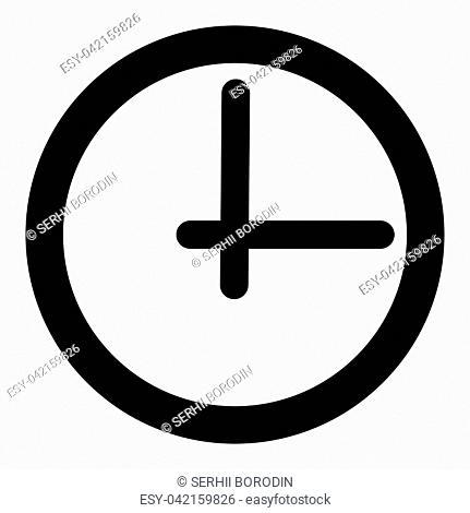 Clock it is black color icon