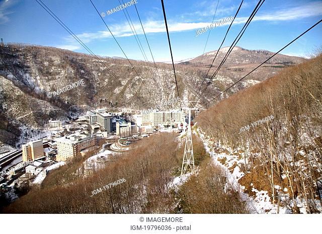 Japan, Hokkaido, Overhead Cable Car