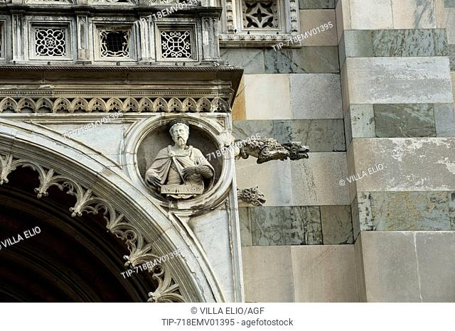 Europe, Italy, Lombardy, Monza. The cathedral of Monza, dedicated to Saint John the Baptist, was built between the fourteenth and seventeenth centuries