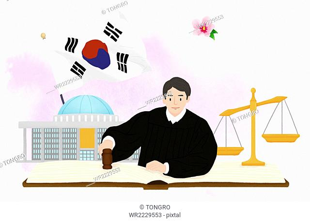 illustration for Korean Constitution Day