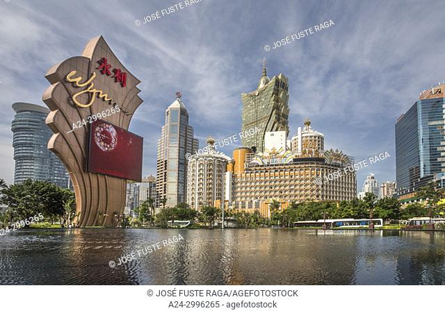 China , Macao City, Cathedral Parish District Skyline
