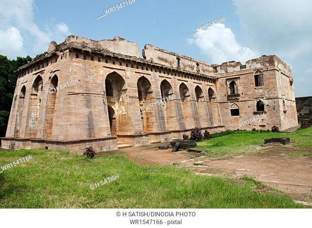 Hindola Mahal in Mandu at Madhya pradesh India Asia