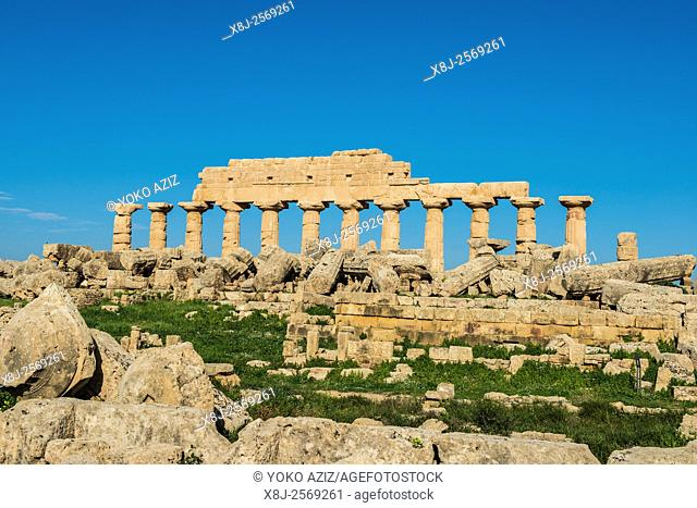 Italy, Sicily, Selinunte, Archaeological site