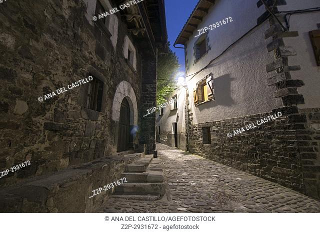 Isaba village in Roncal valley Navarre Spain