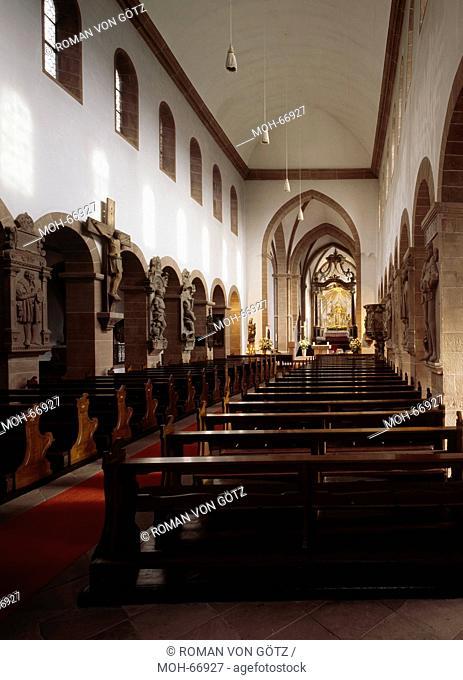 Blick zum Chor, Stiftsbasilika St. Peter und Alexander