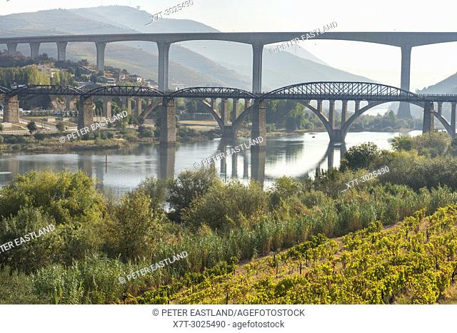 Bridges across the River Douro at Peso da Régua, In the Alto Douro wine region, Northern Portugal