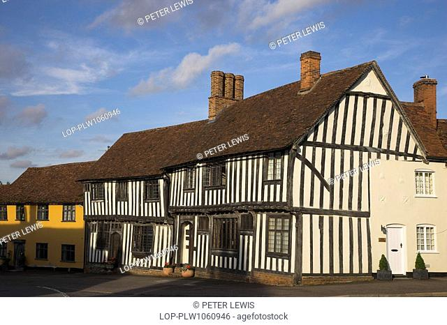 England, Suffolk, Lavenham, A half-timbered medieval building in Lavenham, one of the most outstanding villages in East Anglia