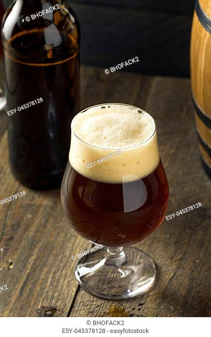 Alcoholic Barrel Aged Sour Beer in a Glass