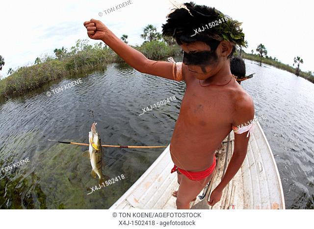 Xingu indians in the Amazon, Brazil