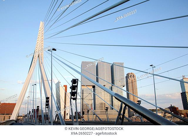 Erasmus Bridge - Erasmusbrug, Rotterdam; Europe